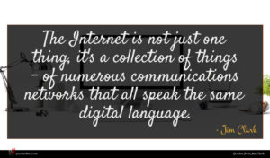 Jim Clark quote : The Internet is not ...