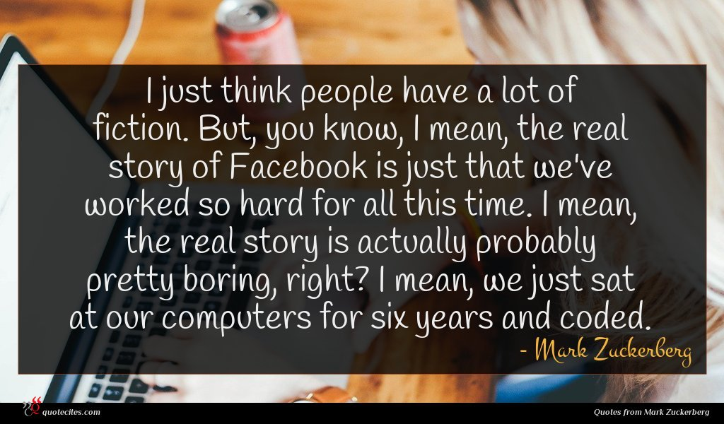 Photo of Mark Zuckerberg quote : I just think people …