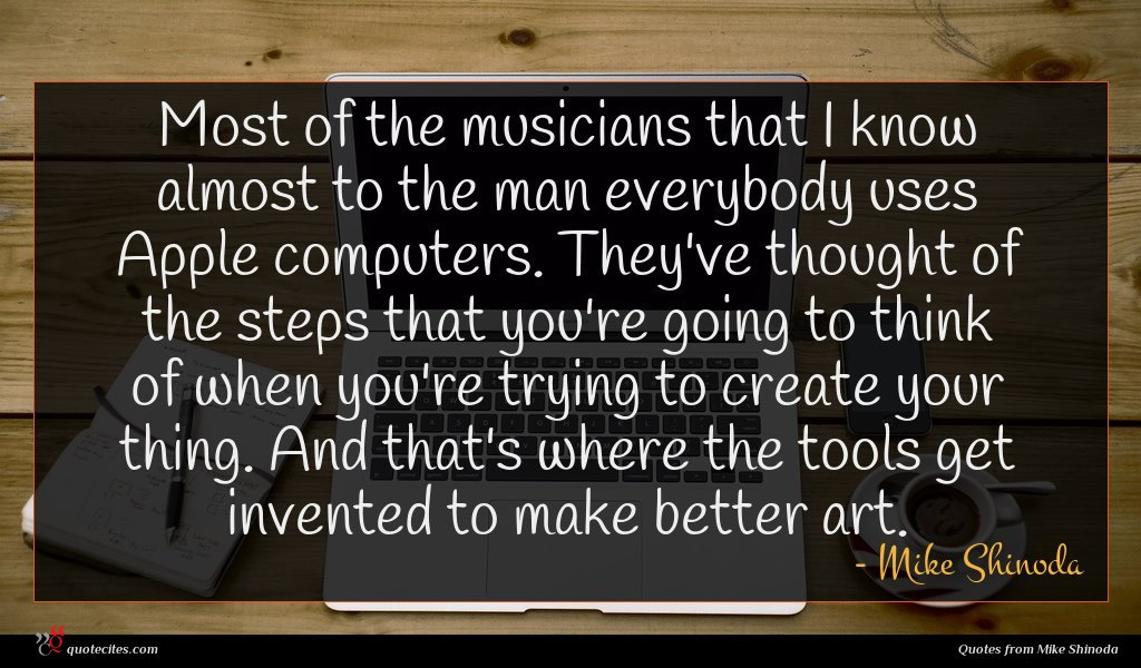Photo of Mike Shinoda quote : Most of the musicians …