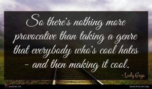 Lady Gaga quote : So there's nothing more ...