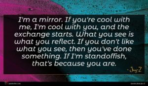 Jay-Z quote : I'm a mirror If ...