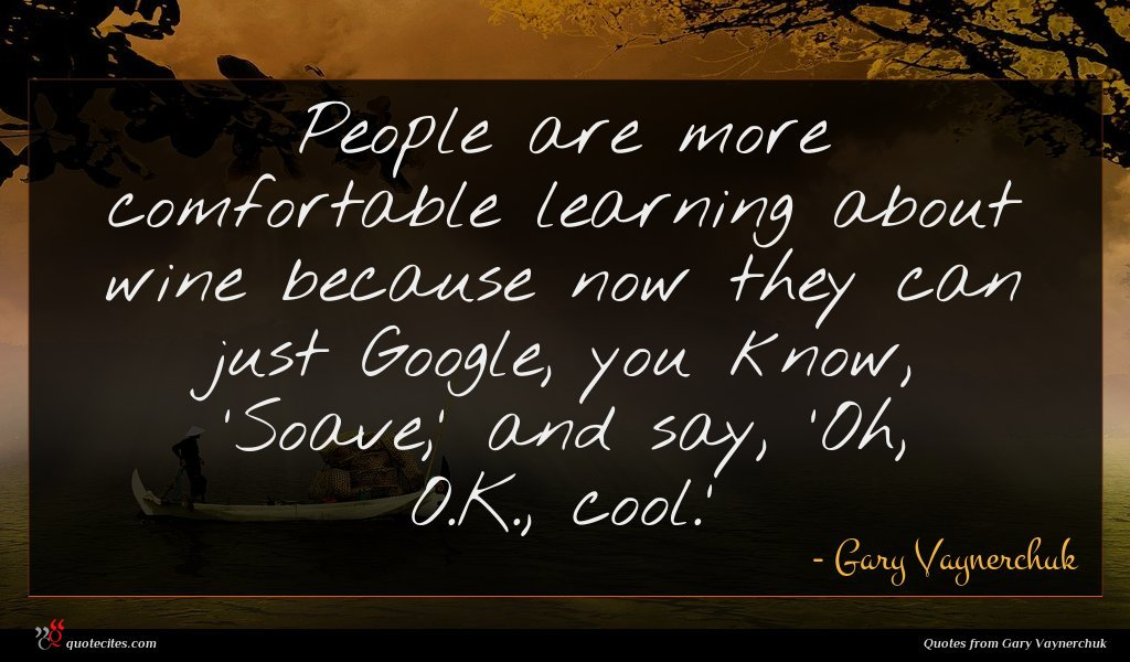Photo of Gary Vaynerchuk quote : People are more comfortable …