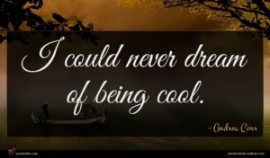 Andrea Corr quote : I could never dream ...