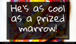 Sid Waddell quote : He's as cool as ...