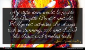 Jessica Brown Findlay quote : My style icons would ...