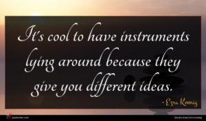 Ezra Koenig quote : It's cool to have ...