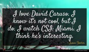 James Denton quote : I love David Caruso ...