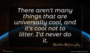 Matthew McConaughey quote : There aren't many things ...