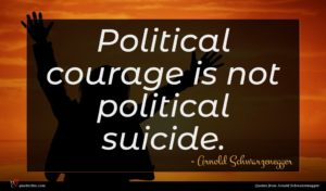 Arnold Schwarzenegger quote : Political courage is not ...