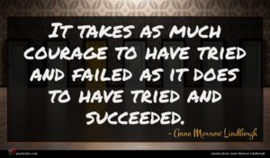 Anne Morrow Lindbergh quote : It takes as much ...