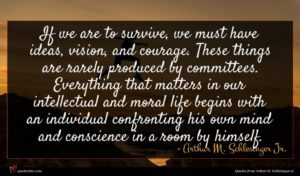 Arthur M. Schlesinger Jr. quote : If we are to ...