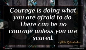 Eddie Rickenbacker quote : Courage is doing what ...