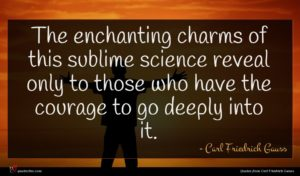 Carl Friedrich Gauss quote : The enchanting charms of ...