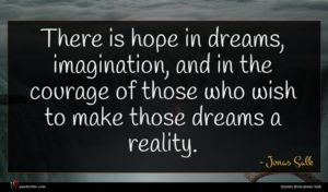 Jonas Salk quote : There is hope in ...