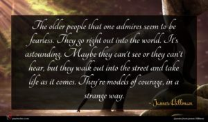 James Hillman quote : The older people that ...