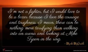 Mark McGrath quote : I'm not a fighter ...