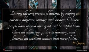Xi Jinping quote : During the long process ...