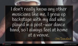 Pete Townshend quote : I don't really know ...