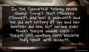 Denise Mina quote : In the 'Garnethill' trilogy ...