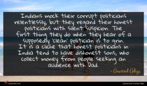 Aravind Adiga quote : Indians mock their corrupt ...