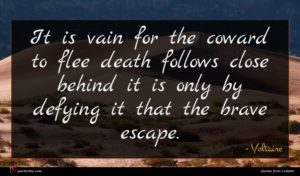 Voltaire quote : It is vain for ...