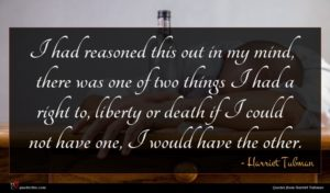 Harriet Tubman quote : I had reasoned this ...
