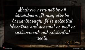 R. D. Laing quote : Madness need not be ...