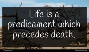 Henry James quote : Life is a predicament ...