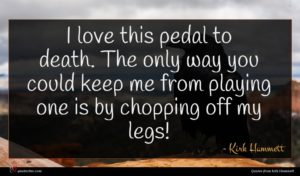 Kirk Hammett quote : I love this pedal ...