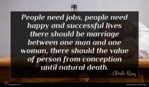 Alveda King quote : People need jobs people ...