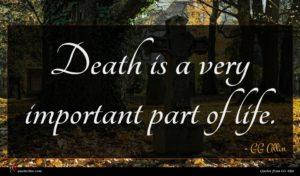 GG Allin quote : Death is a very ...