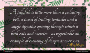Jeffrey Kluger quote : A jellyfish is little ...