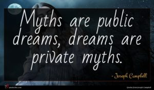 Joseph Campbell quote : Myths are public dreams ...