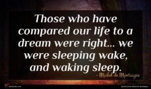 Michel de Montaigne quote : Those who have compared ...