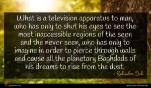 Salvador Dali quote : What is a television ...