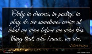 Julio Cortázar quote : Only in dreams in ...