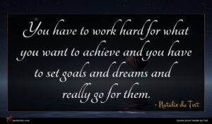 Natalie du Toit quote : You have to work ...