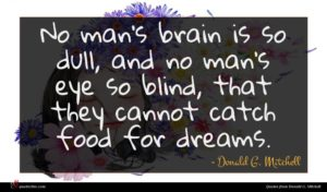 Donald G. Mitchell quote : No man's brain is ...