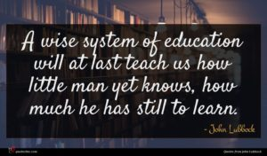 John Lubbock quote : A wise system of ...