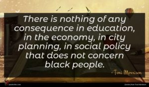 Toni Morrison quote : There is nothing of ...