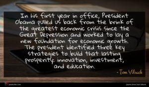Tom Vilsack quote : In his first year ...