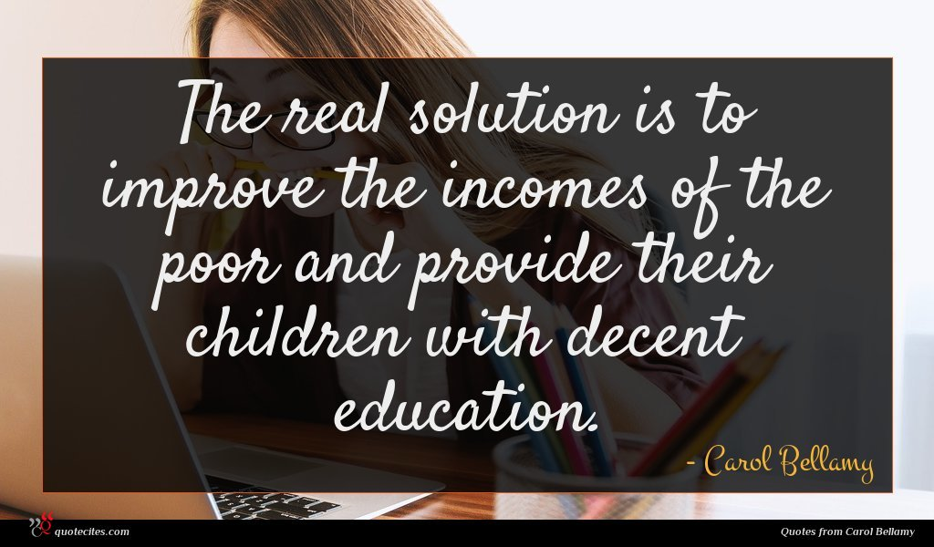 The real solution is to improve the incomes of the poor and provide their children with decent education.
