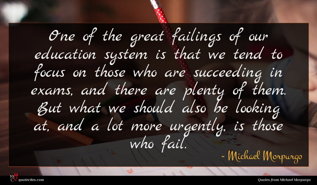 One of the great failings of our education system is that we tend to focus on those who are succeeding in exams, and there are plenty of them. But what we should also be looking at, and a lot more urgently, is those who fail.