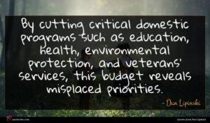 Dan Lipinski quote : By cutting critical domestic ...