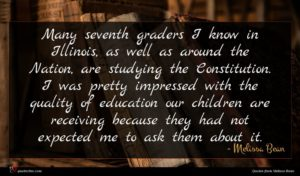 Melissa Bean quote : Many seventh graders I ...