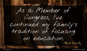 Mark Kennedy quote : As a Member of ...