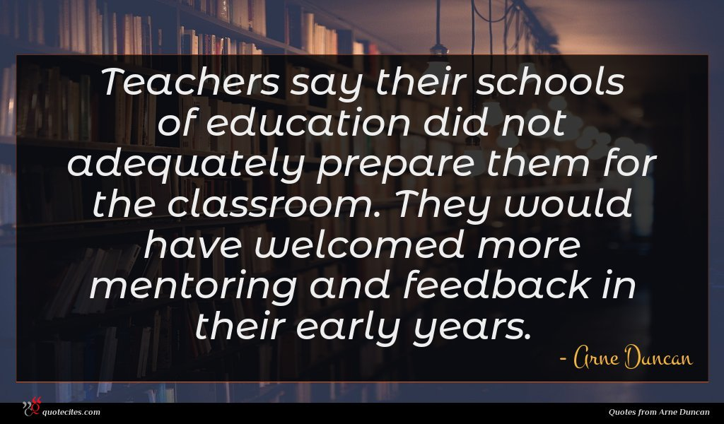 Teachers say their schools of education did not adequately prepare them for the classroom. They would have welcomed more mentoring and feedback in their early years.