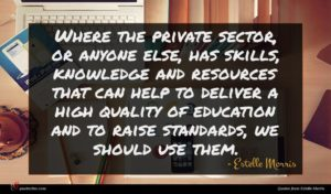 Estelle Morris quote : Where the private sector ...