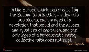 Juan Goytisolo quote : In the Europe which ...