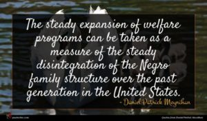 Daniel Patrick Moynihan quote : The steady expansion of ...